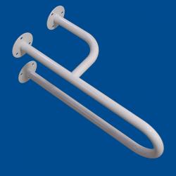 Uchwyt Umywalkowy dla Niepełnosprawnych prawy 50 cm biały fi25