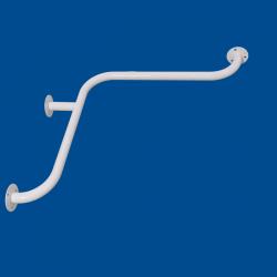 Uchwyt kątowy Prysznicowy dla Niepełnosprawnych 50/50cm biały fi32
