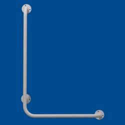 Uchwyt Kątowy dla Niepełnosprawnych lewy 80/40cm biały fi25