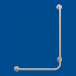 Uchwyt Kątowy dla Niepełnosprawnych prawy 80/60cm biały fi25