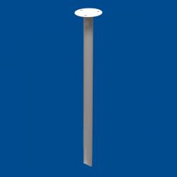 Podwieszenie drążka stałe 60cm białe fi25
