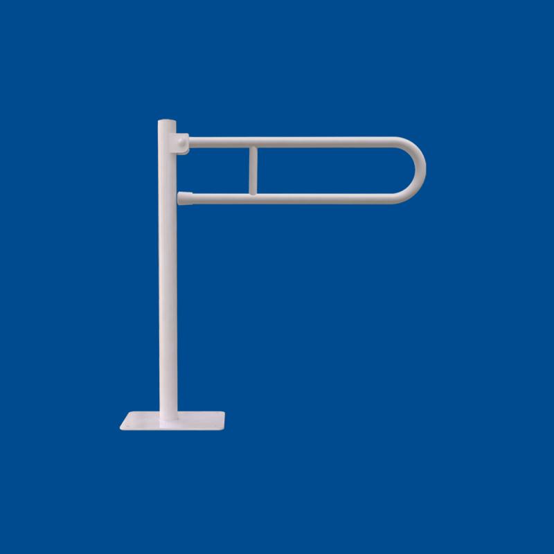 Uchwyt Uchylny WC Wolnostojący dla Niepełnosprawnych 70 cm biały fi25