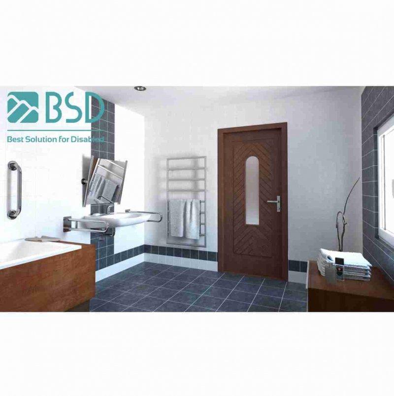 Uchwyt Uchylny WC / Umywalka dla Niepełnosprawnych 70cm stal nierdz fi25
