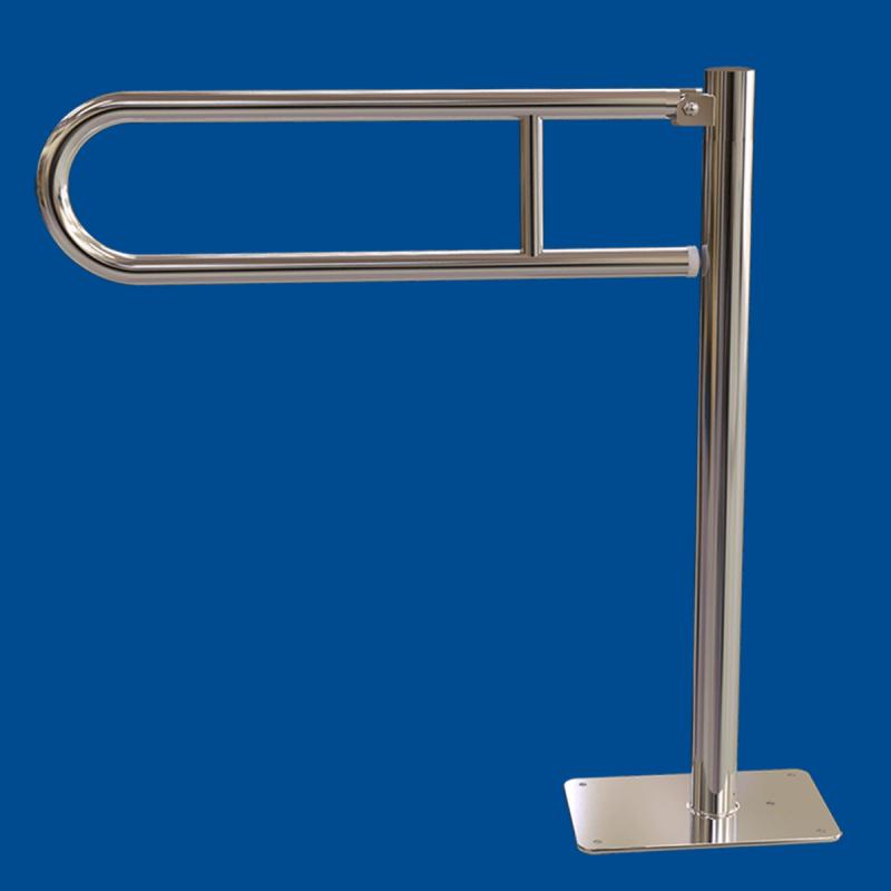 Uchwyt Uchylny WC Wolnostojący dla Niepełnosprawnych 70cm stal nier fi25