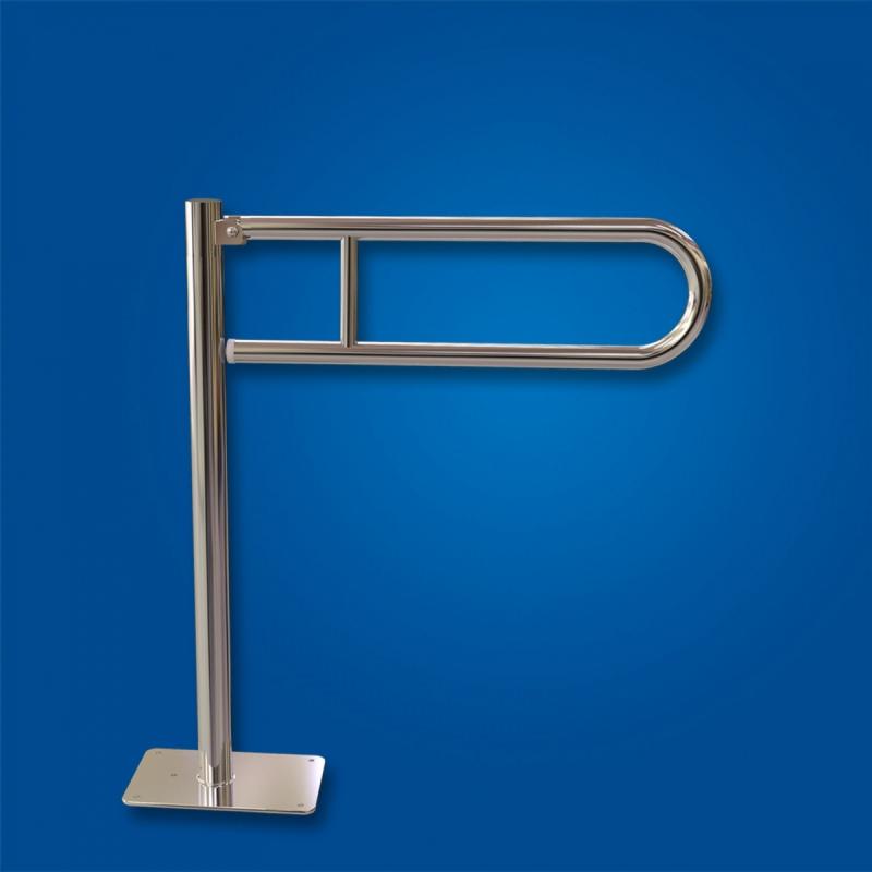 Uchwyt Uchylny WC wolnostojący 60cm stal nierdzewna fi25 dla niepełnosprawnych