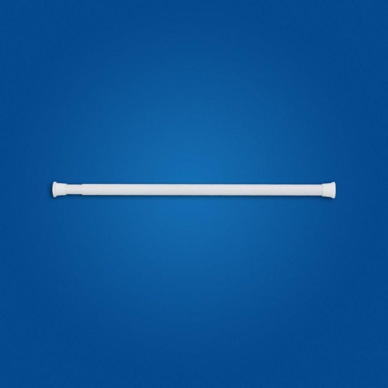 Drążek zasłony prysznicowej rozprężny 70-110cm biały fi25