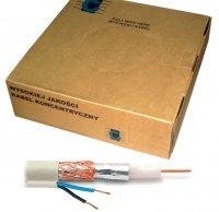 Kabel koncentryczny R-TV RG-59 +2x0.35  100m
