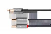 Kabel jack 3.5 wtyk stereo - 2RCA 10m Kruger&Matz Basic