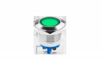 Kontrolka LED 18 mm 230V metal zielona EK5675