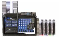 Mikrofon PA-180 UHF 4 kanały (4 mikrofony do ręki)