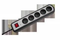 Listwa zasilajaca KEMOT 5 gniazd z przełącznikiem, 5m (3x1,5mm)