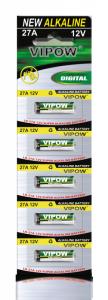 Baterie alkaliczne VIPOW LR27A 5szt/bl.
