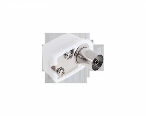 Gniazdo antenowe TV na kabel kątowe małe Cabletech