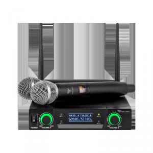 Mikrofon bezprzewodowy dwukanałowy UHF Azusa JU-822