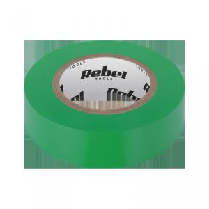 Taśma izolacyjna klejąca REBEL (0,13 mm x 19 mm x 10 yd) zielona