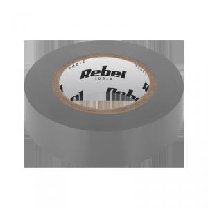 Taśma izolacyjna klejąca REBEL (0,13 mm x 19 mm x 20 yd) szara
