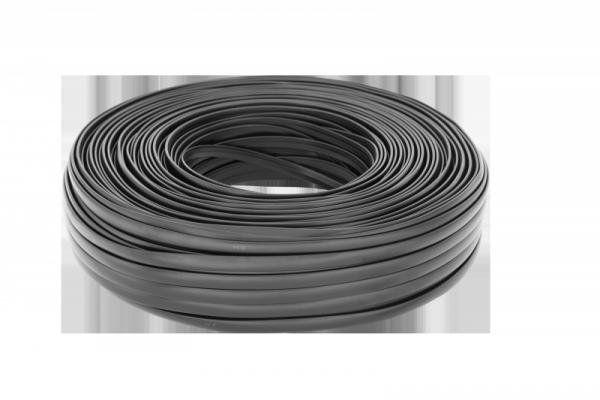 Kabel telefoniczny 6C czarny 100m LXK514