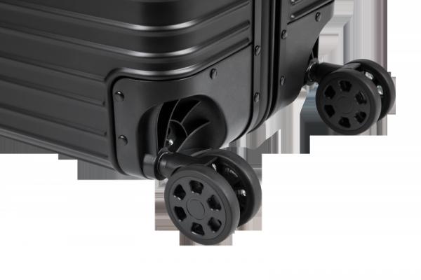 Duża walizka aluminiowa na kółkach Kruger&Matz czarna