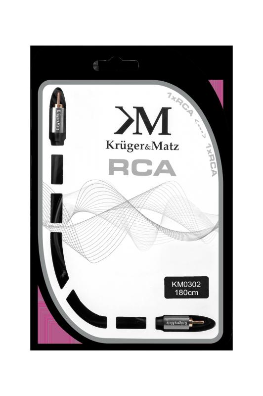 Kabel 1RCA-1RCA 1.8m Kruger&Matz