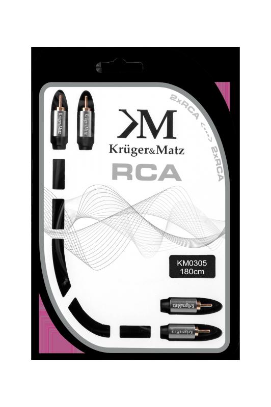Kabel 2RCA-2RCA 1.8m Kruger&Matz