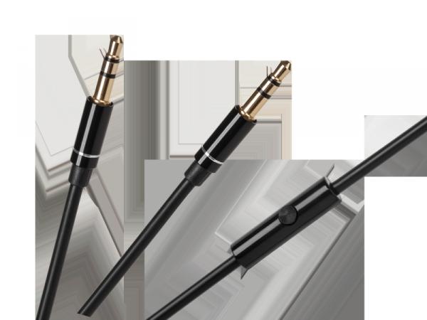 Kabel z mikrofonem do słuchawek Kruger&Matz  Street  oraz  Wave - kolor czarny