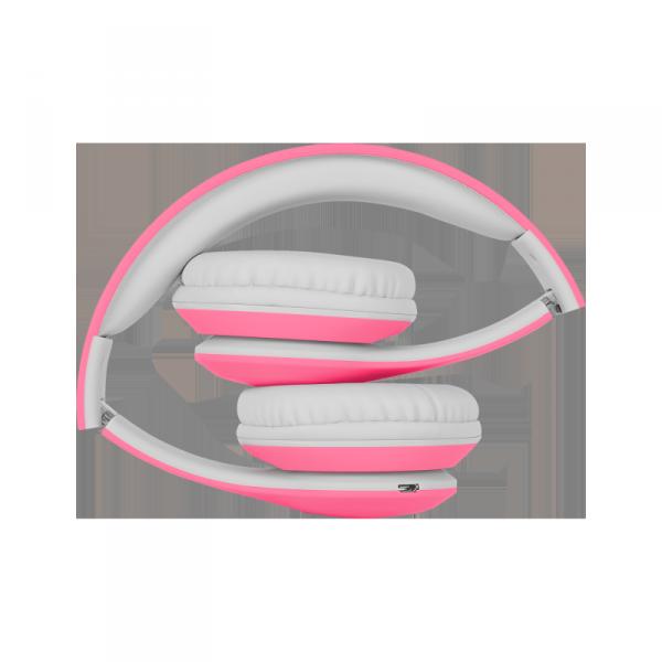 Bezprzewodowe słuchawki nauszne dla dzieci Kruger&Matz model Street Kids , kolor różowy