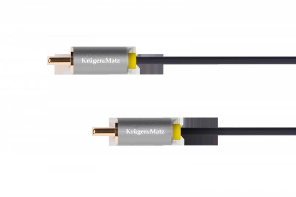Kabel 1RCA-1RCA 1.8m Kruger&Matz Basic