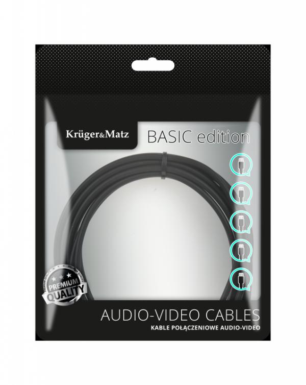 Kabel 2RCA-2RCA 5m Kruger&Matz Basic
