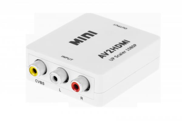 Konwerter sygnału gniazdo AV - CHINCH CVBS + AUDIO - gniazdo HDMI