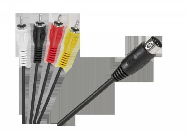 Kabel DIN-4 x RCA 1,8m
