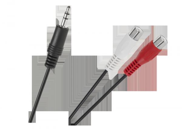 Kabel  Jack 3.5 wtyk-2 gniazda RCA  25cm