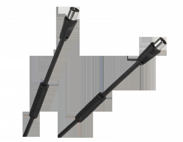Kabel TV-Video czarny z filtrami 5m