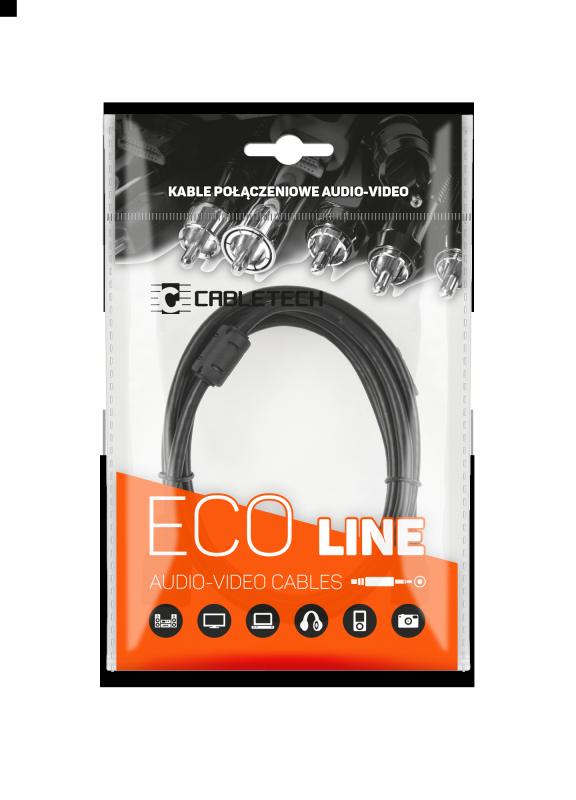 Kabel jack 3.5 wtyk-gniazdo 1.8m Cabletech Eco-Line
