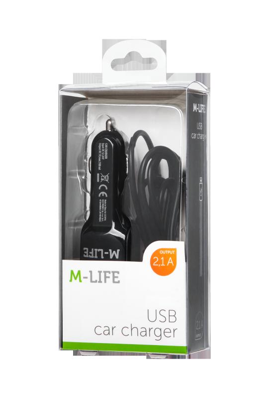 Ładowarka samochodowa M-Life do Apple iPhone, iPad + USB 2100 mA