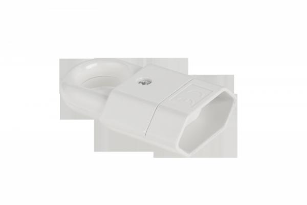 Gniazdo płaskie z uchwytem białe GP2C