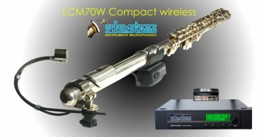 Mikrofon bezprzewodowy do fletu poprzecznego SD Systems LCM 70 W(ireless)
