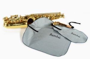 Zestaw wyciorów z mikrofibry do korpusu i fajki saksofonu altowego Bambu KL01