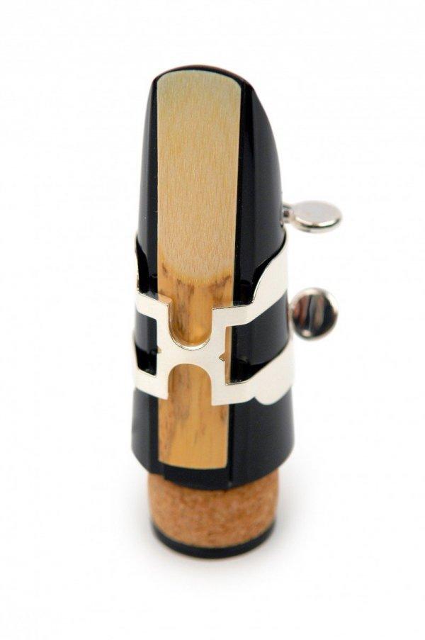 Ligaturka do klarnetu basowego Rico H posrebrzana