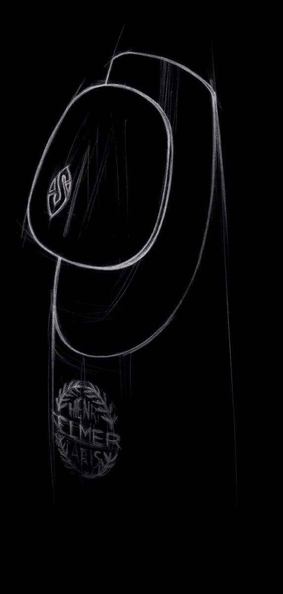 Naklejki na ustnik Henri Selmer Paris (0.35 mm, złote logo)