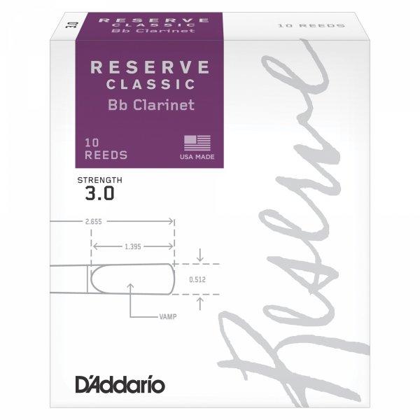 Stroiki do klarnetu B/A Rico Reserve Classic