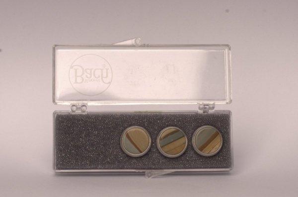 """Nakrętki z kamieniami szlachetnymi do wentyli tłokowych do trąbki Vincent Bach Valve Buttons """"Picture Jasper"""" posrebrzane"""