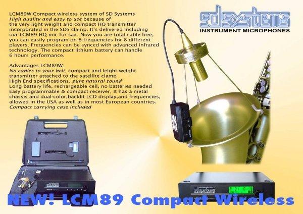 Mikrofon bezprzewodowy do saksofonu SD Systems LCM 89 W(ireless)