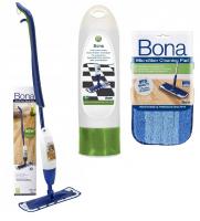 Spray Mop Bona w zestawie pielęgnacyjnym do płytek, paneli i winyli