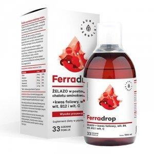 Ferradrop - Żelazo w płynie + Kwas Foliowy (500ml)