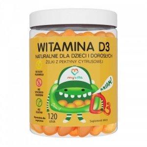 MyVita witamina D3 naturalne żelki dla dzieci 60 sztuk