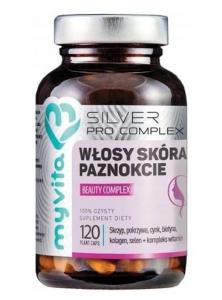 MyVita Silver Pure Włosy Skóra Paznokcie Beauty Complex, 120 kaps.