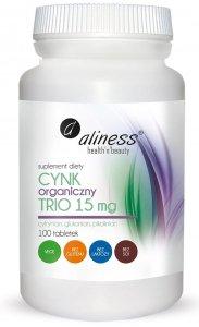 Aliness Cynk Organiczny Trio 15 mg x 100 tabletek