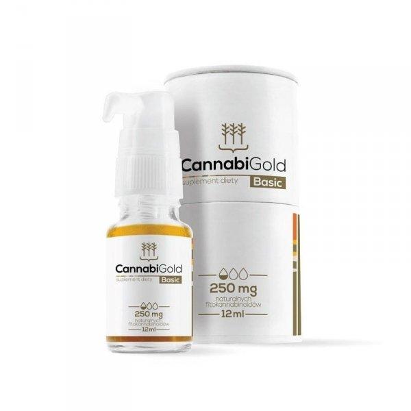 HemPoland CannabiGold Basic 250 mg, 12 ml. Właściwości CBD