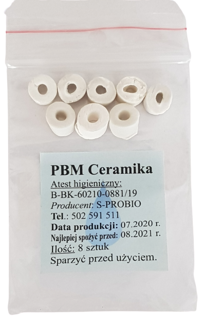 PBM Ceramika koraliki - woreczek 8 szt.