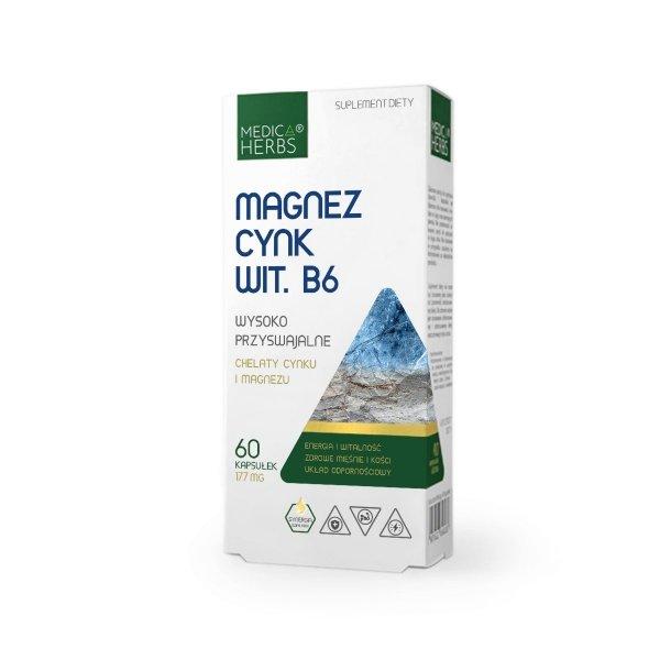 Medica Herbs Magnez Cynk Wit.B6